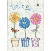 "Jiffy Let It Bee... Mini Counted Cross Stitch Kit, 5""X7"" 14 Count"