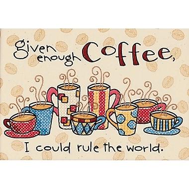 Enough Coffee Mini Stamped Cross Stitch Kit, 7