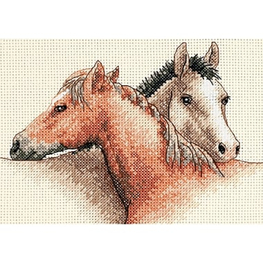 Horse Pals Mini Counted Cross Stitch Kit, 7