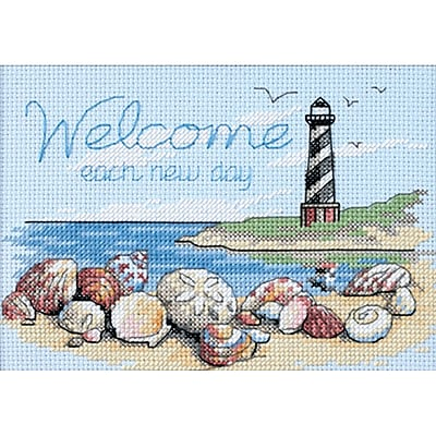 Welcome Each New Day Mini Counted Cross Stitch Kit, 7