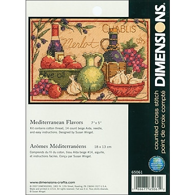 Mediterranean Flavors Mini Counted Cross Stitch Kit, 7