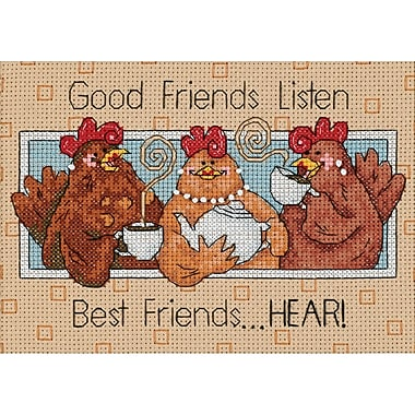 Good Friends Listen Mini Counted Cross Stitch Kit, 7
