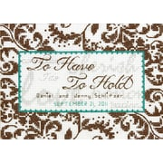 "Treasured Words Wedding Record Mini Counted Cross Stitch Kit, 7""X5"" 14 Count"