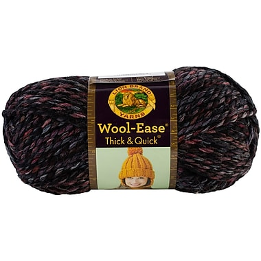 Wool-Ease Thick & Quick Yarn, Blackstone Stripes
