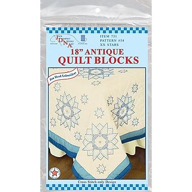 Stamped Ecru Quilt Blocks 18