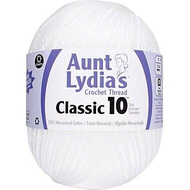Aunt Lydia's Crochet Cotton Classic Jumbo Size 10, White