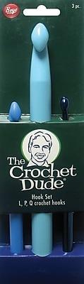 Crochet Dude Plastic Hook Set, Sizes L11/8mm, P16/10mm, Q/15.75mm