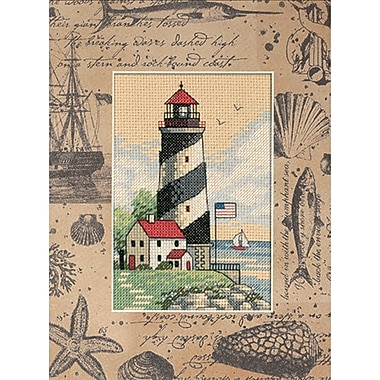 Matted Accents Light At Sea Counted Cross Stitch Kit, 8