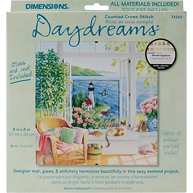 Daydreams Beach Tranquility Counted Cross Stitch Kit, 8