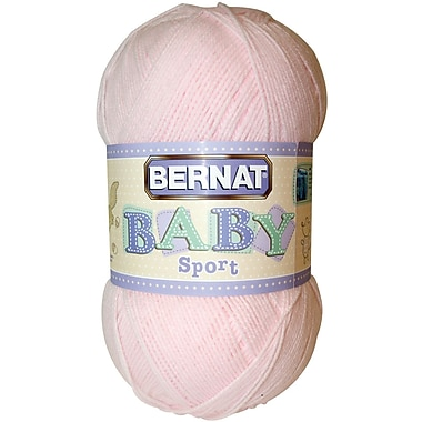 Baby Sport Big Ball Yarn, Solids, Baby Pink Marl