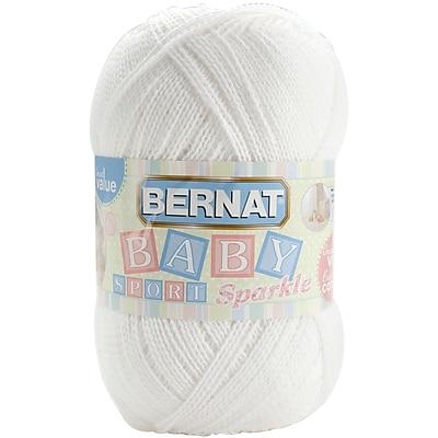 Baby Sport Big Ball Yarn, Sparkle, White Sparkle