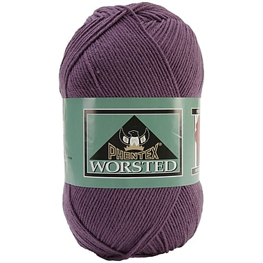 Phentex Worsted Solids Yarn, Dark Mauve