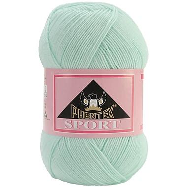 Phentex Sport Solids Yarn, Baby Denim Marble, Blue/White