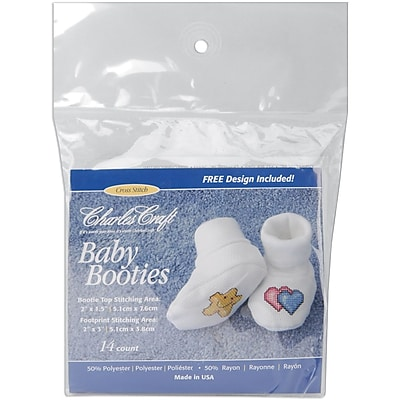 Baby Booties, White