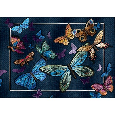 Gold Collection Petite Exotic Butterflies Counted Cross Stitch Kit, 7