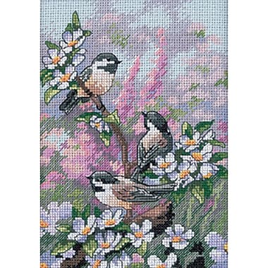Gold Collection Petite Chickadees In Spring Counted Cross Stitch Kit, 5