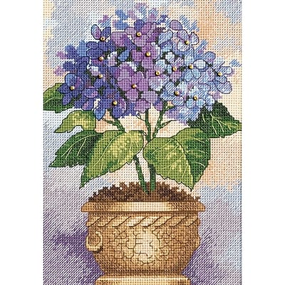 Gold Collection Petite Hydrangea In Bloom Counted Cross Stitch Kit, 5