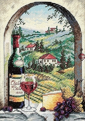 Gold Collection Petite Dreaming Of Tuscany Counted Cross Stitch Kit, 5