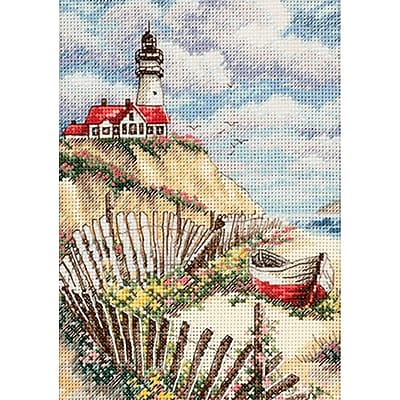 Gold Collection Petite Cliffside Beacon Counted Cross Stitch Kit, 5