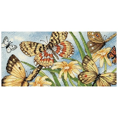 Gold Collection Petite Butterfly Vignette Counted Cross Stitch Kit, 8