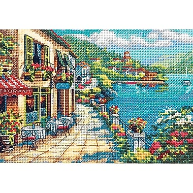 Gold Collection Petite Overlook Cafe Counted Cross Stitch Kit-7