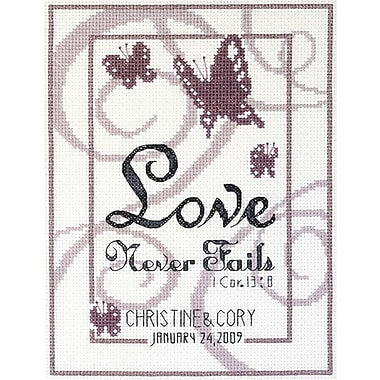Love Never Fails Counted Cross Stitch Kit, 6