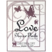 """Love Never Fails Counted Cross Stitch Kit, 6""""X8"""" 14 Count"""