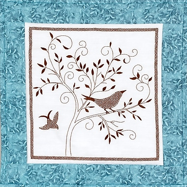 Bird Silhouette Quilt Blocks Stamped Cross Stitch Kit, 15