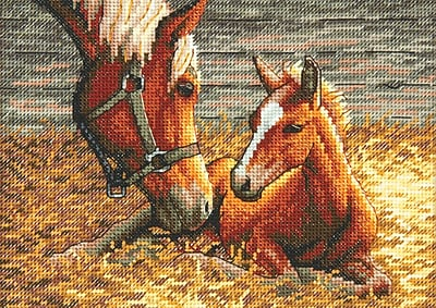 Gold Collection Petite Good Morning Counted Cross Stitch Kit, 7