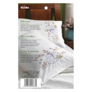 "Stamped Embroidery Pillowcase Pair 20""X30"", Garden Girl"