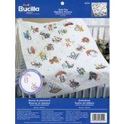 "Stamped Cross Stitch Baby Quilt Top 34""X43"", Alphabet Dreams"
