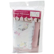 """Stamped Lace Edge Pillowcase 30""""X20"""", Miss Daisy"""