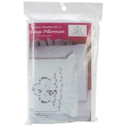 """Stamped Lace Edge Pillowcase 30""""X20"""", Somba Lady"""