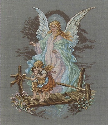 Guardian Angel Counted Cross Stitch Kit, 7-1/2