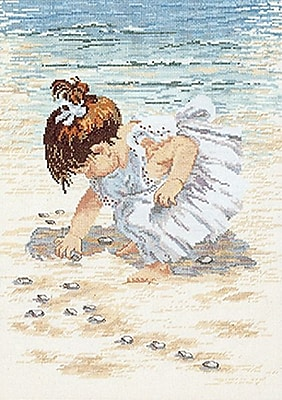 Collecting Shells Counted Cross Stitch Kit, 12