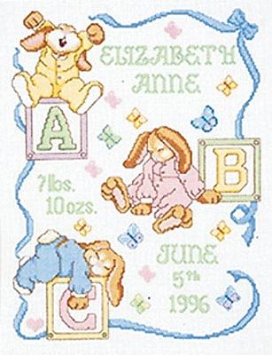 Sleepy Bunnies Sampler Counted Cross Stitch Kit, 11