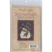 """Midnight Snowman Punch Needle Kit, 3""""X4"""""""