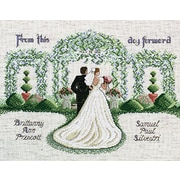 """From This Day Forward Counted Cross Stitch Kit, 14""""X11"""" 14 Count"""