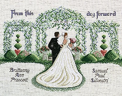 From This Day Forward Counted Cross Stitch Kit, 14