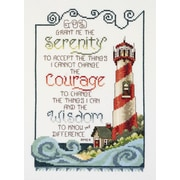 """Serenity Lighthouse Counted Cross Stitch Kit, 7""""X10"""" 14 Count"""