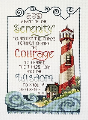 Serenity Lighthouse Counted Cross Stitch Kit, 7
