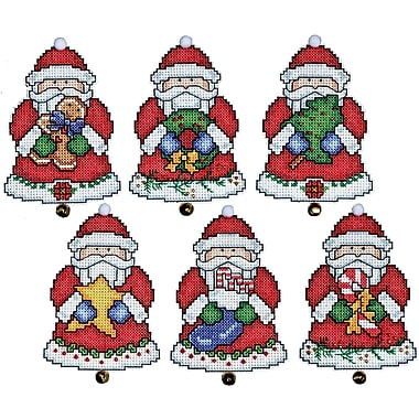 Santa Ornaments Plastic Canvas Kit, 3