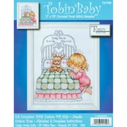 """Bedtime Prayer Girl Birth Record Counted Cross Stitch Kit, 11""""X14"""" 14 Count"""