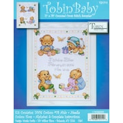 """Baby Bears Birth Record Counted Cross Stitch Kit, 11""""X14"""" 14 Count"""
