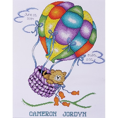 Balloon Cat Sampler Counted Cross Stitch Kit, 11
