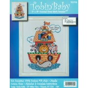 """Noah's Ark Birth Record Counted Cross Stitch Kit 11""""X14"""" 14 Count"""