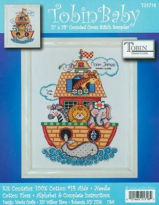 Noah's Ark Birth Record Counted Cross Stitch Kit 11