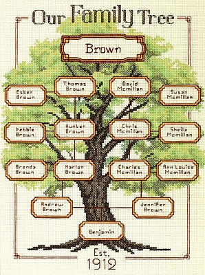 Our Family-Family Tree Counted Cross Stitch Kit, 9