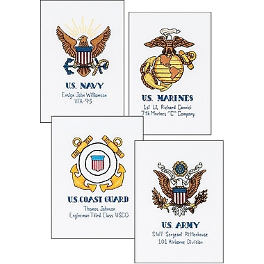 Military Pride Counted Cross Stitch Kit, 10