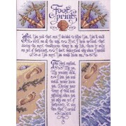 "Footprints Counted Cross Stitch Kit, 10-1/2""X14"" 28 Count"